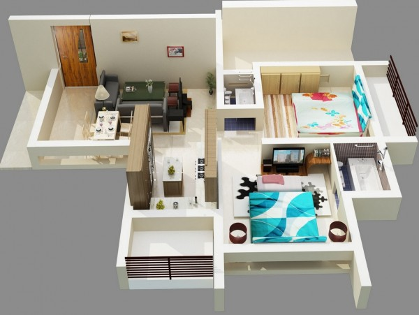 2 bedroom apartment house plans for 2 bhk apartment interior design