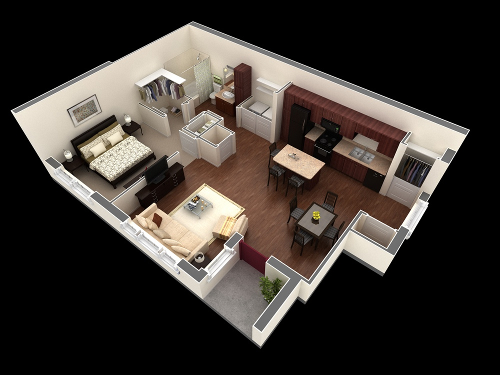 Studio Apartment Floor Plans additionally 3 Distinctly Themed Apartments Under 800 Square Feet 75 Square Meter With Floor Plans furthermore Mediterranean House Plans Home Design Ideas Pictures Remodel And further Floorplans further Backyard Pond Design. on small one bedroom apartment floor plans