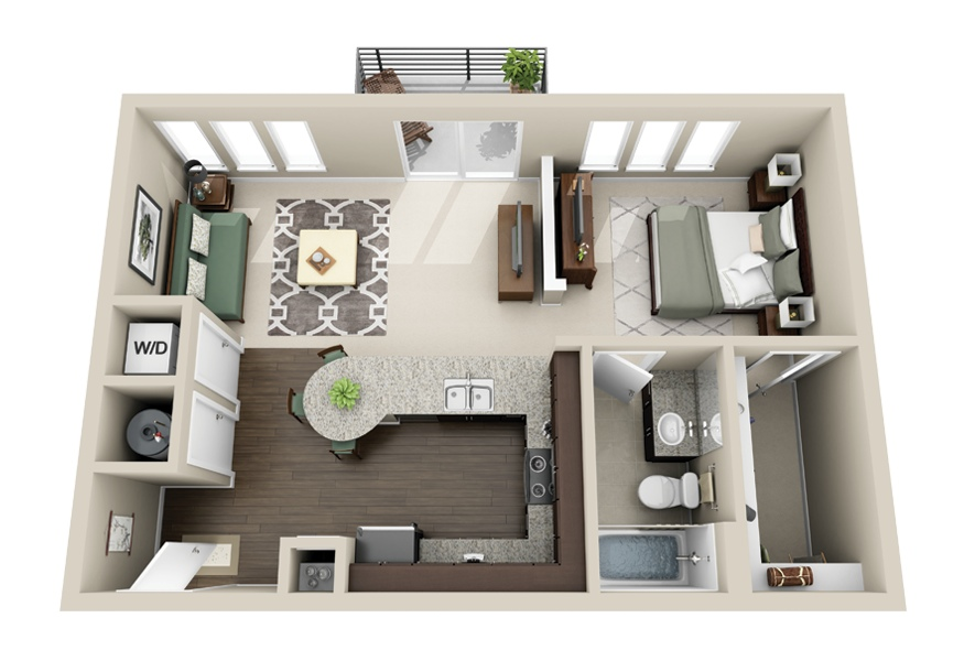 to choose a favorite detail in this one bedroom one bathroom apartment