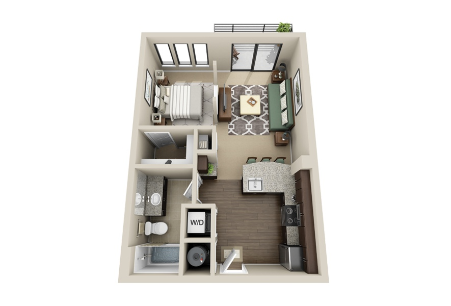 Small Efficiency Apartment studio apartment floor plans
