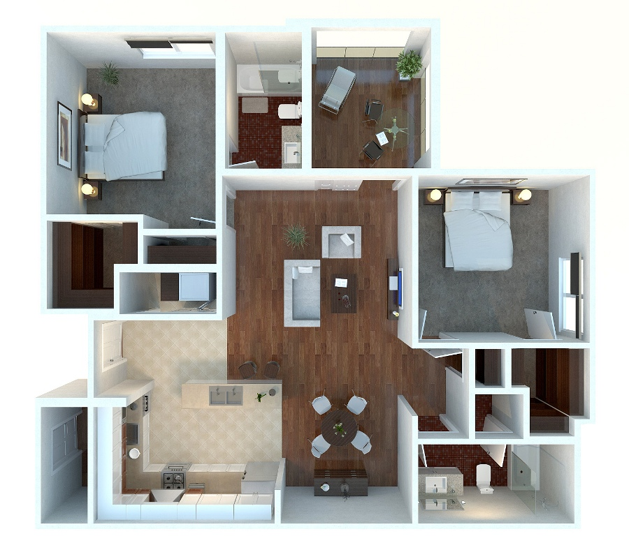 Fine 2 Bedroom Apartment House Plans Largest Home Design Picture Inspirations Pitcheantrous