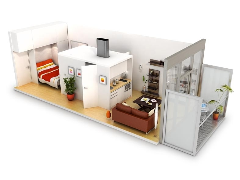 Studio apartment floor plans for Wohncontainer design