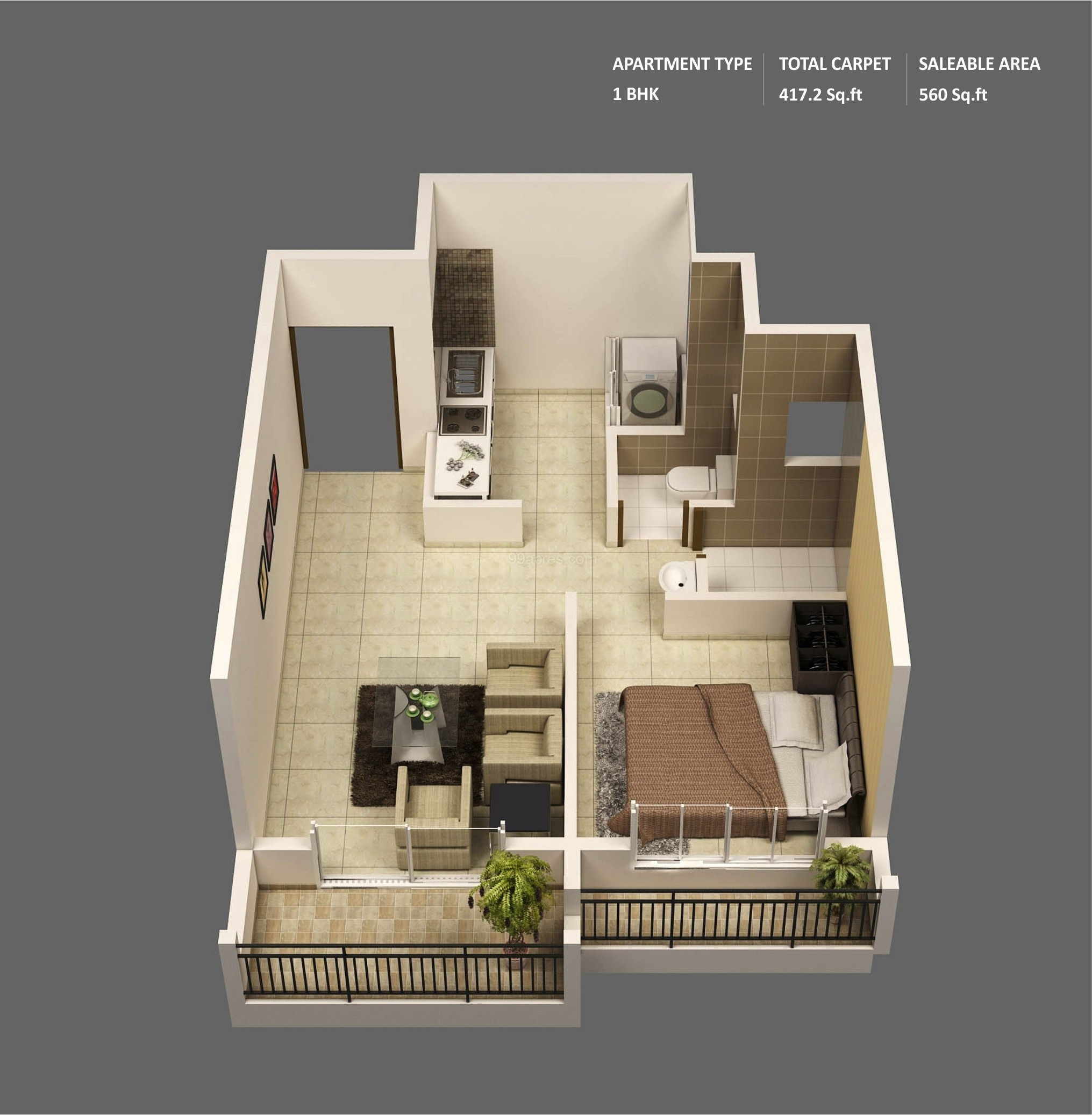 1 bedroom apartment house plans for Small space floor plans