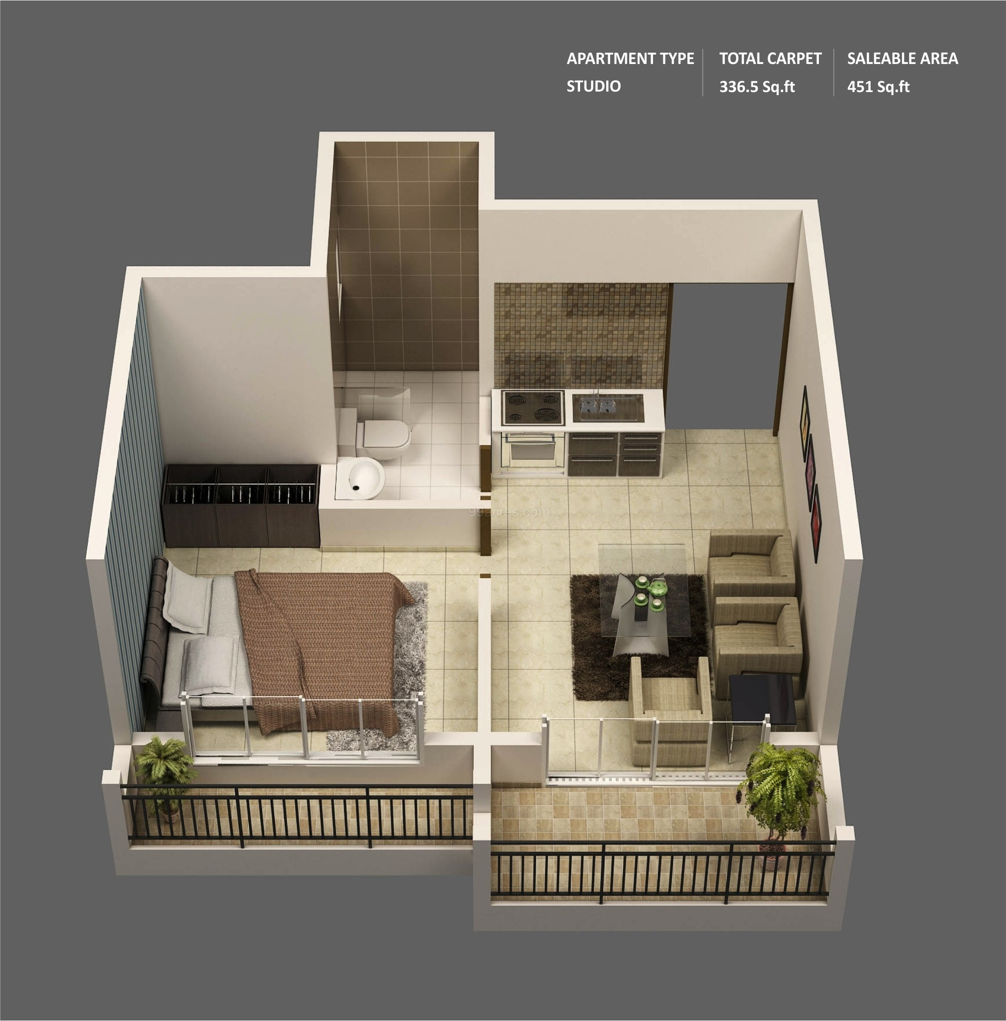 Small Apartment Design Plan