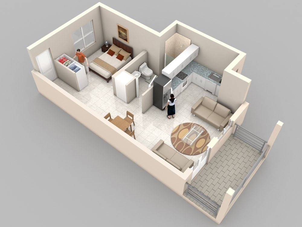 Studio apartment floor plans for Studio floor