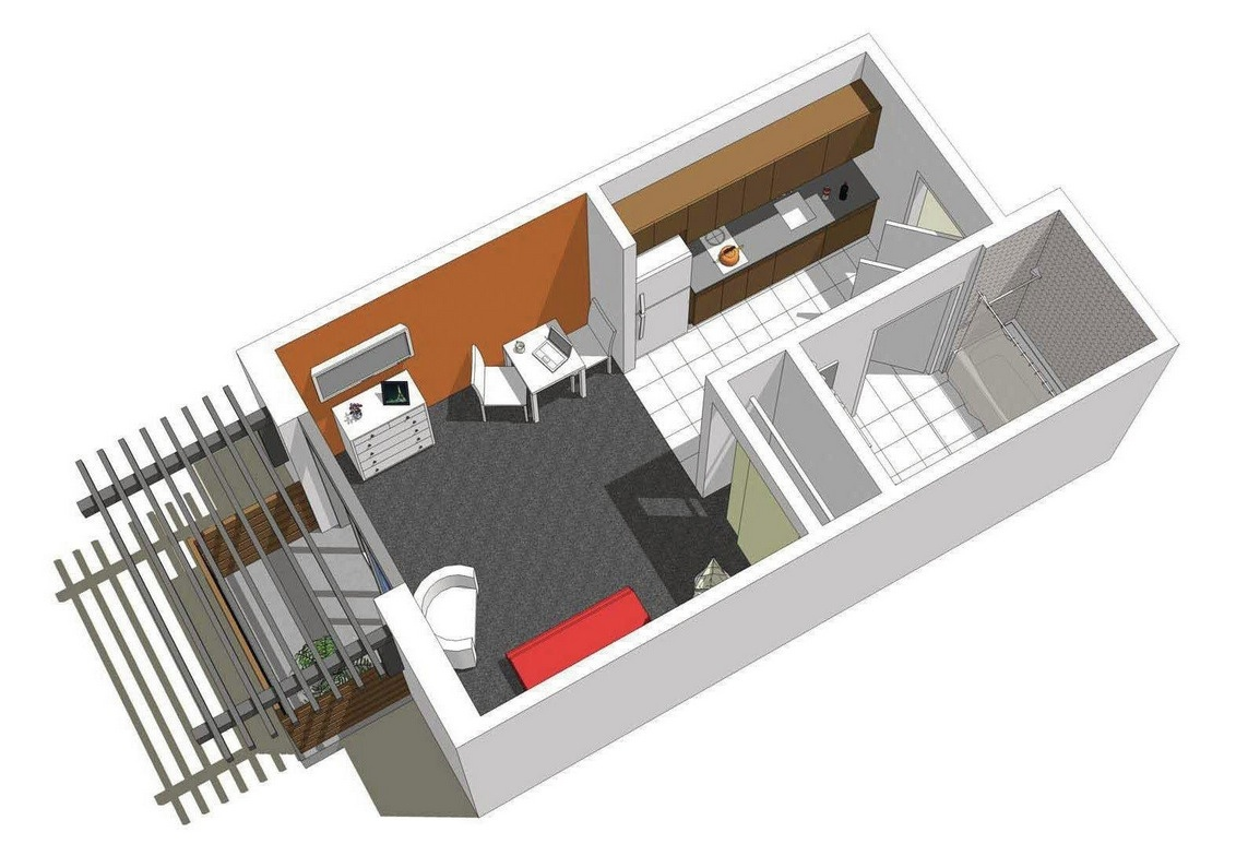 Studio apartment floor plans for Small studio plans