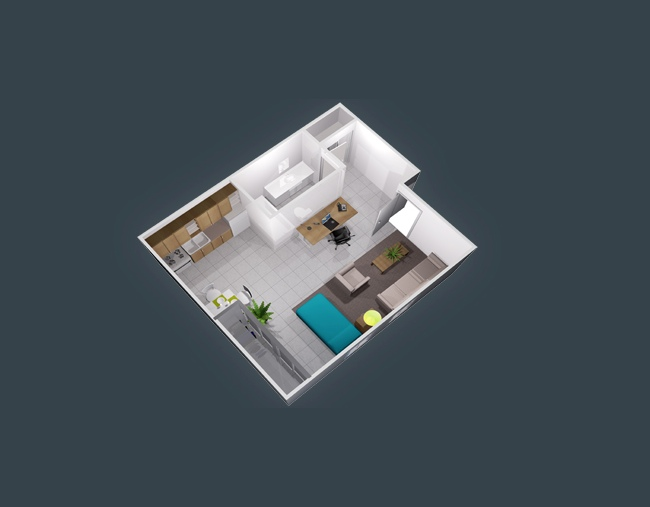 studio apartment floor plans - Tiny Tower 3 Bedroom Home Design