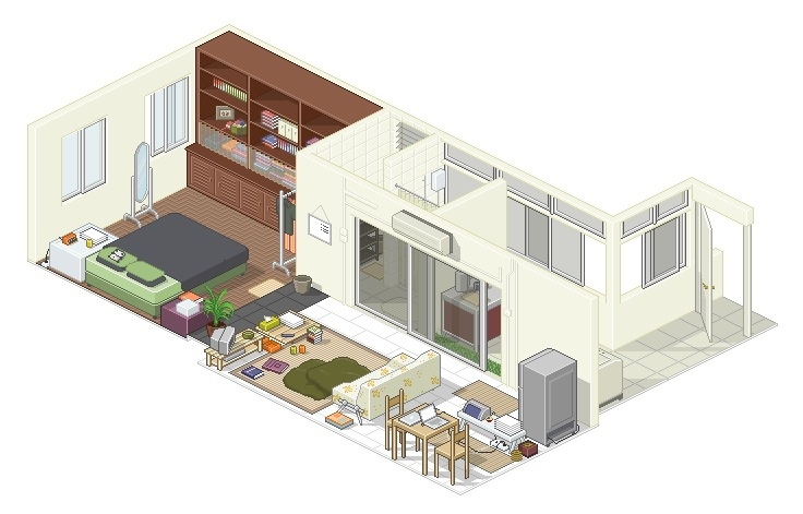Studio apartment floor plans for Studio home designs