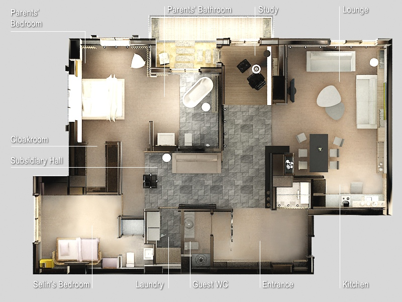 2 bedroom apartment house plans smiuchin for Two bedroom flat plan