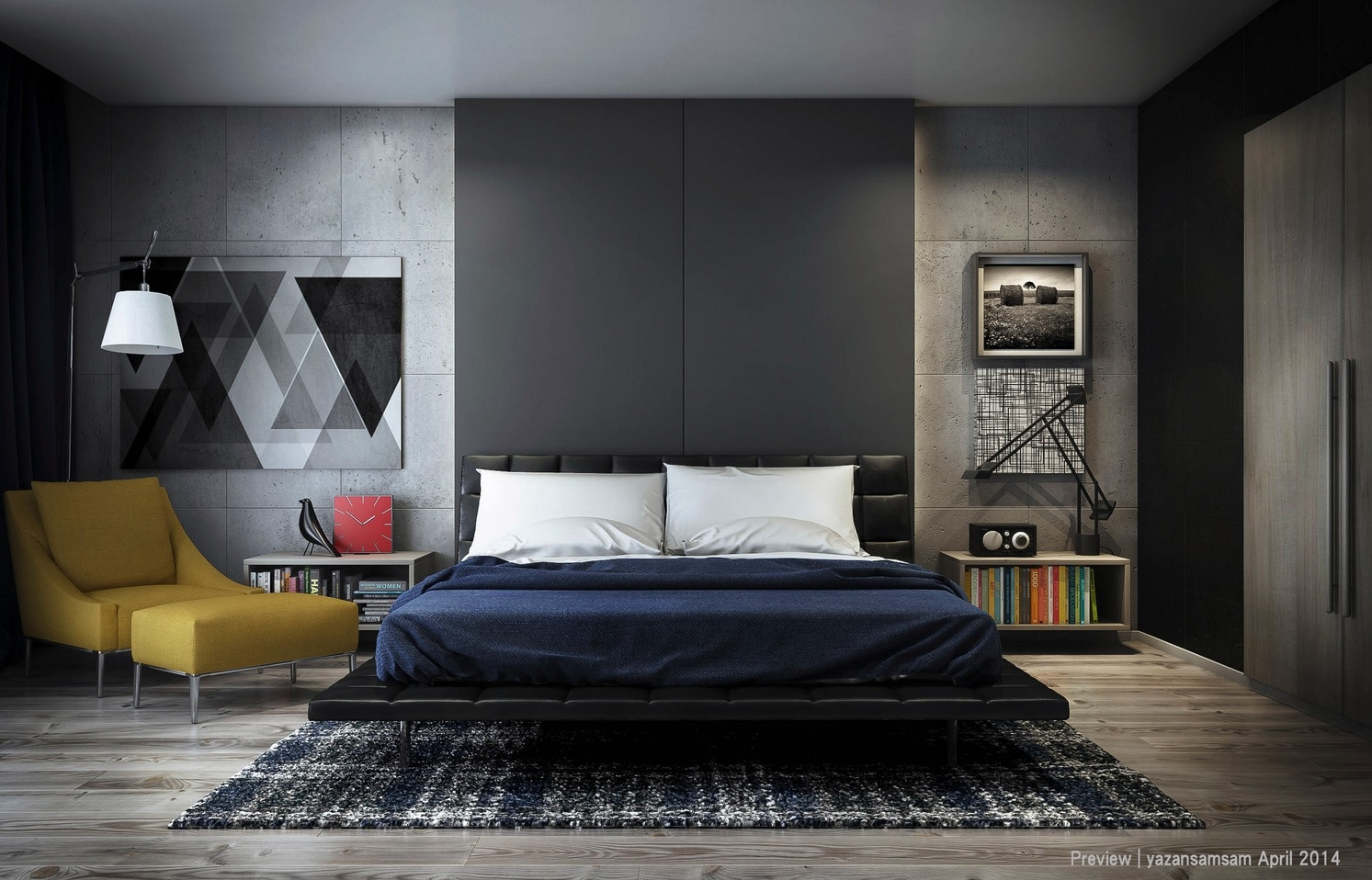 25 newest bedrooms that we are in love with for Bed room interior wall design