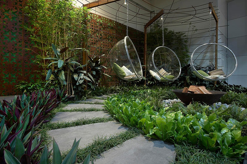 modern landscape design ideas from rolling stone landscapes - Home Landscape Design Ideas