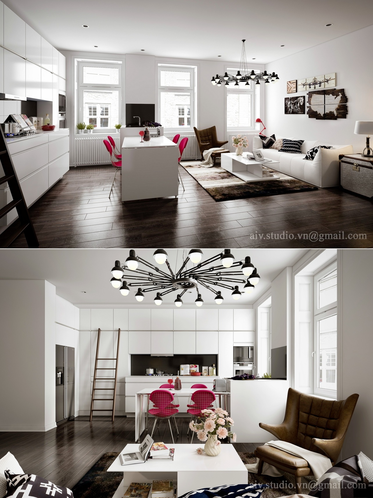Studio apartment interiors inspiration for Apartment accessories