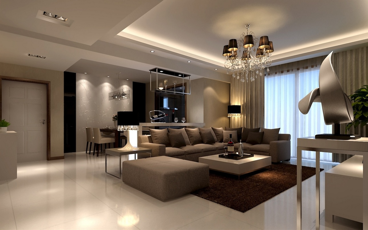 classic style beige living room | Interior Design Ideas.