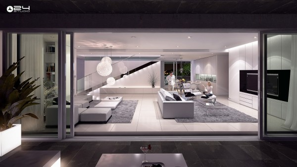 cool modern apartment living