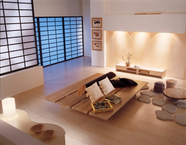 Zen living room
