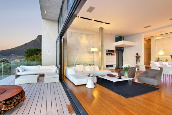 indoor outdoor living space combination