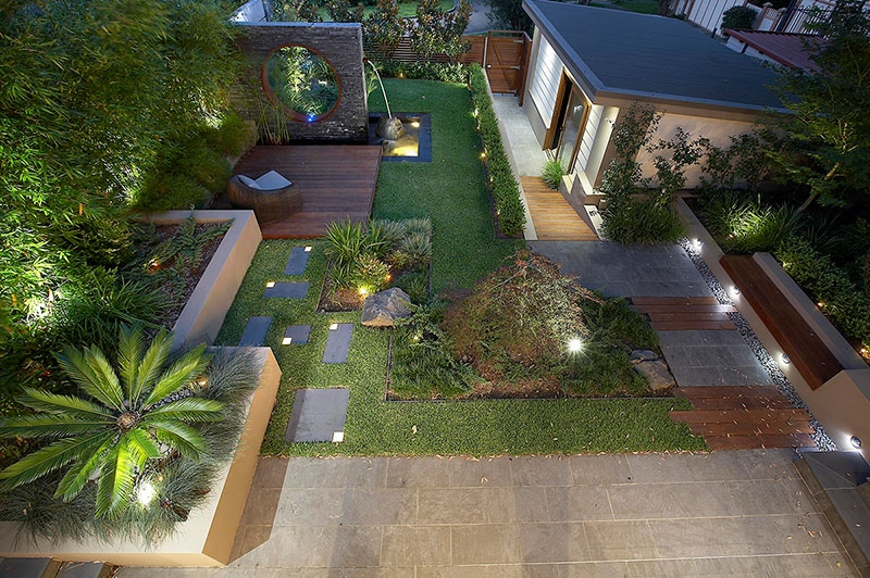 Modern landscape design ideas from rollingstone landscapes for New house garden design ideas