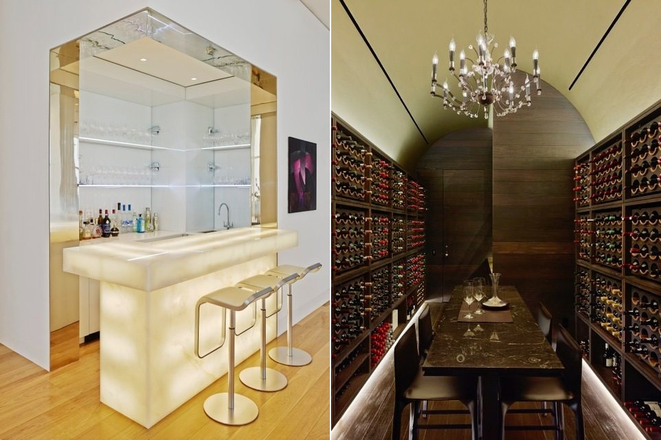 luxury home bar and wine cellar | Interior Design Ideas.