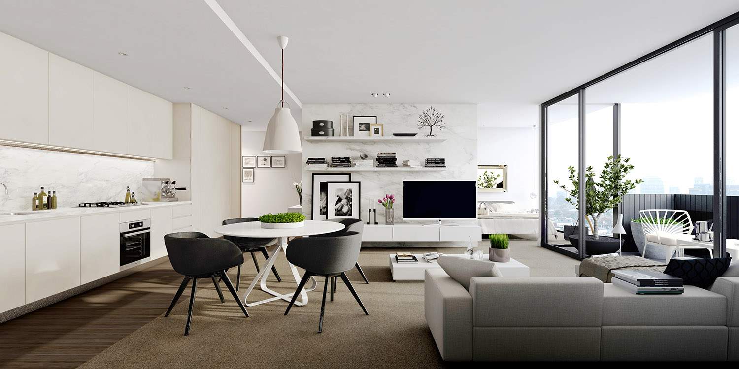 Studio apartment interiors inspiration for Apartment design inspiration