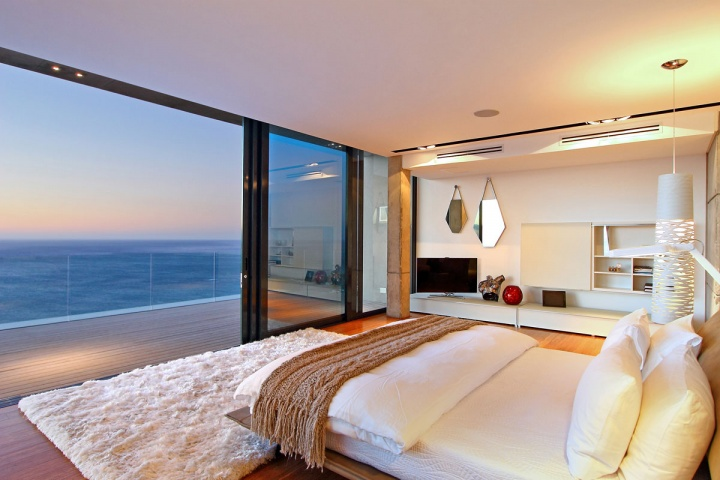 Master Suite Sliding Doors - Breathtaking villa incorporating boulders in its design