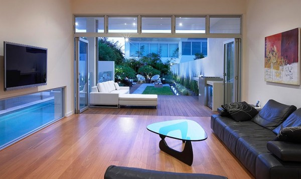 modern open living garden design