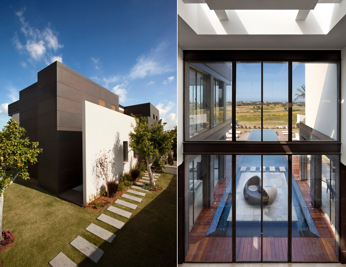 Modern luxury villas designed by gal marom architects for Villa architect