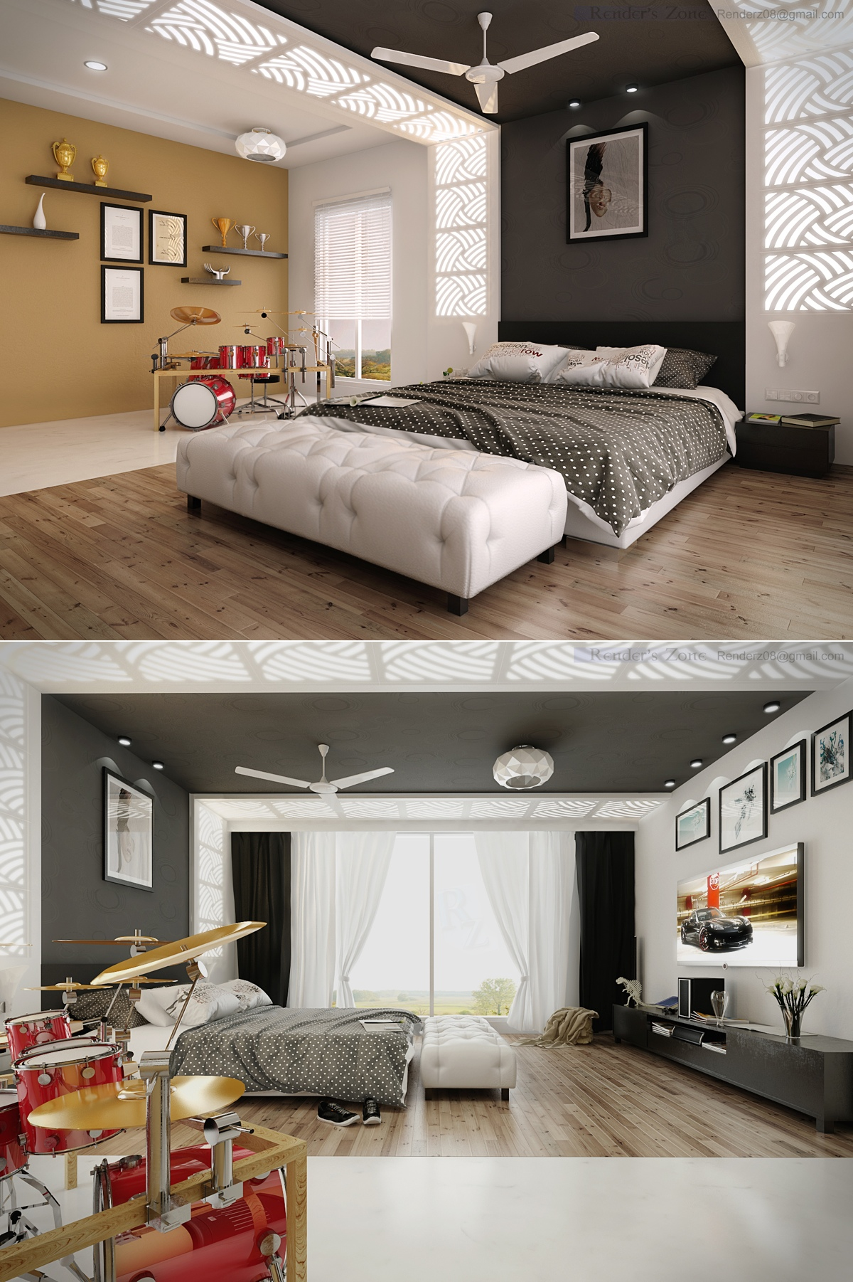 25 newest bedrooms that we are in love with - Deco murale chambre ...