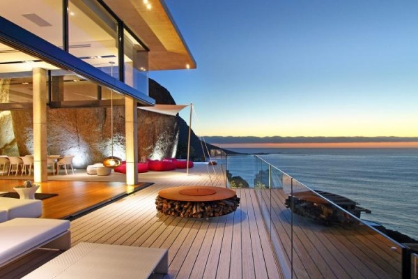 Breathtaking villa incorporating boulders in its design for Beach house design cape town