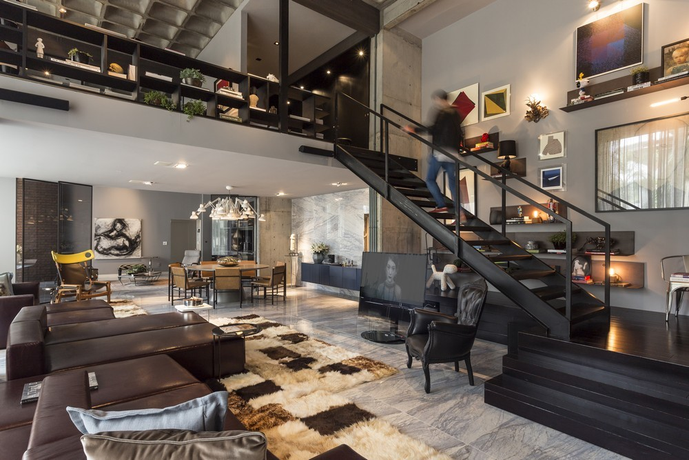 An artful loft design for Open concept loft
