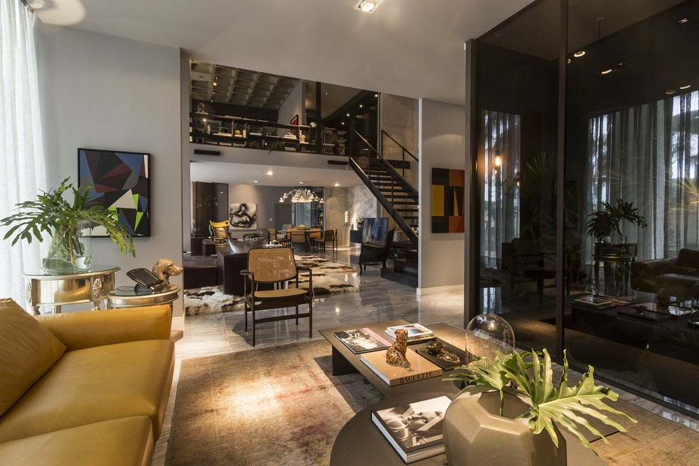 An artful loft design for Open concept interior design