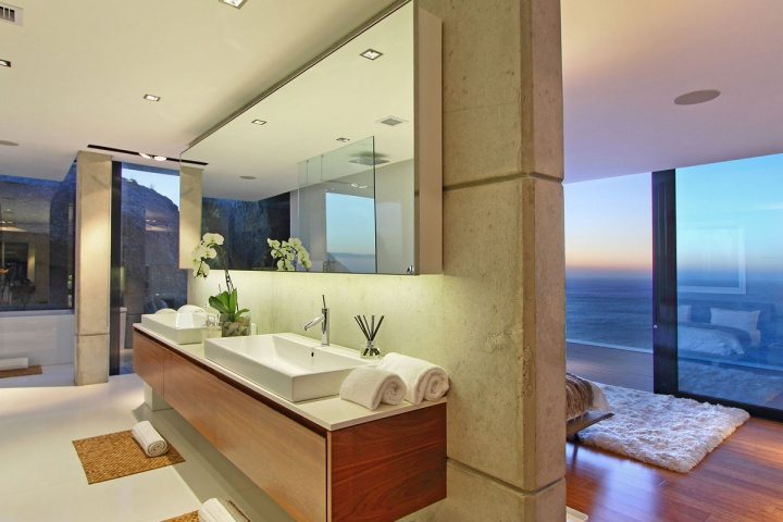 Open Concept Master Suite - Breathtaking villa incorporating boulders in its design