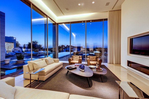 open glass living room