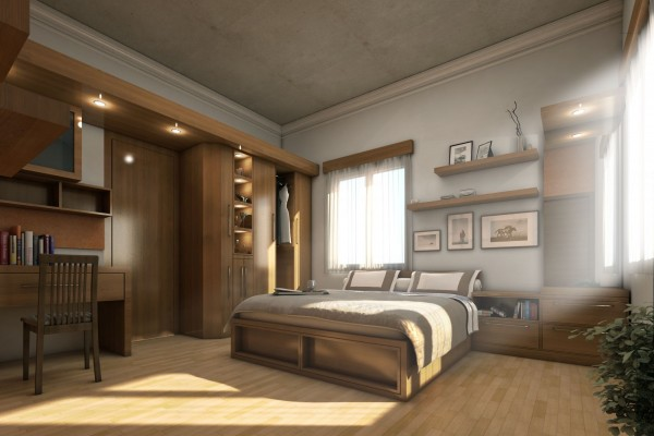 rustic bedroom design
