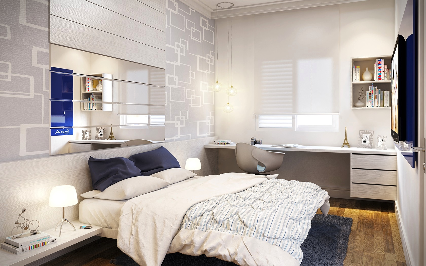 25 newest bedrooms that we are in love with for Small room furniture design