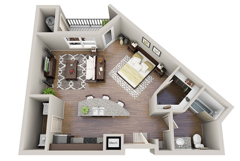 Studio apartment floor plans for Apartment layout planner