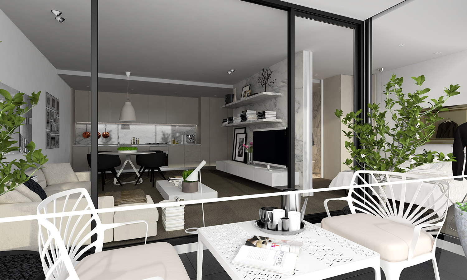 Studio apartment interiors inspiration for Studio apartment living ideas
