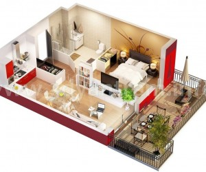 Small Apartment Plan 1 bedroom apartment/house plans