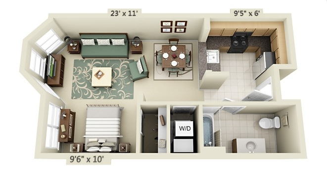 Apartment Condo Floor Plan 12 Small Apartments