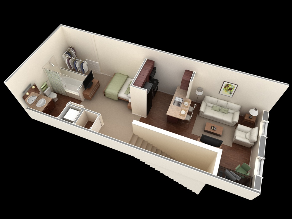 Studio Apartment Style studio apartment floor plans
