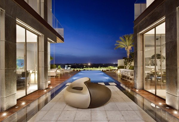 stylish pool side seating