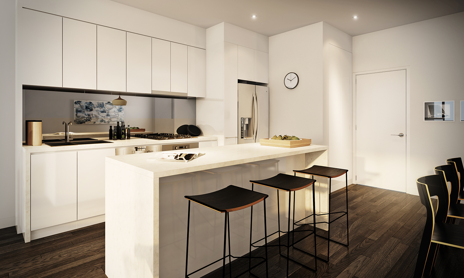 Superbe White Apartment Kitchen