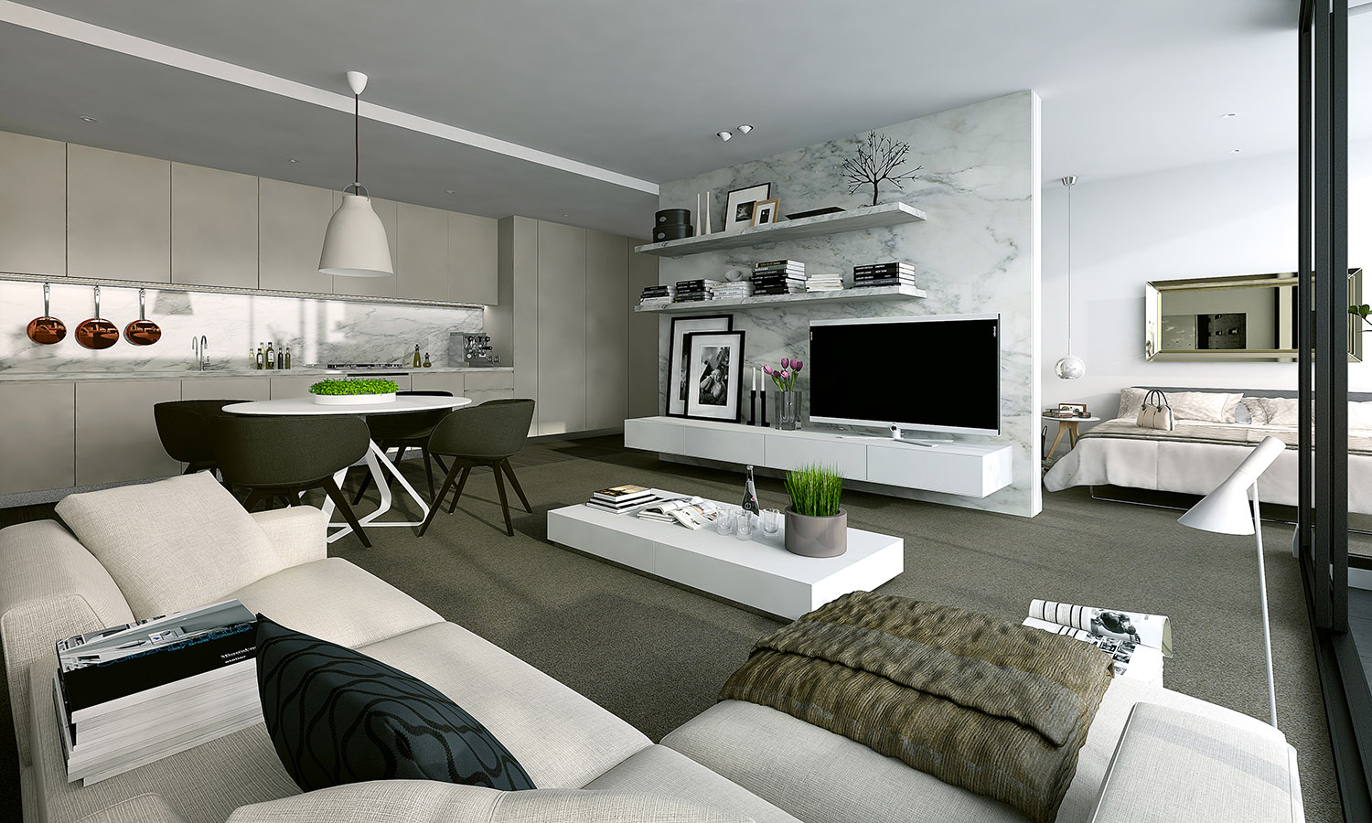 Studio Apartment Interiors Inspiration - Modern studio apartment design layouts