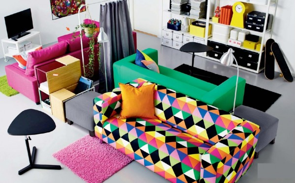 As always, IKEA's brand of Swedish design is homey, comfortable, colourful, and super functional.
