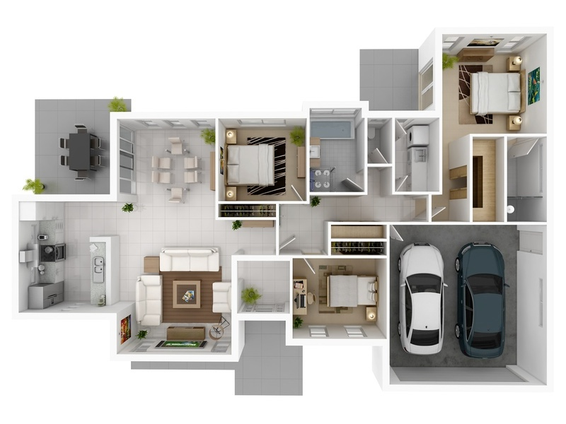 3 bedroom apartmenthouse plans - Design My Home