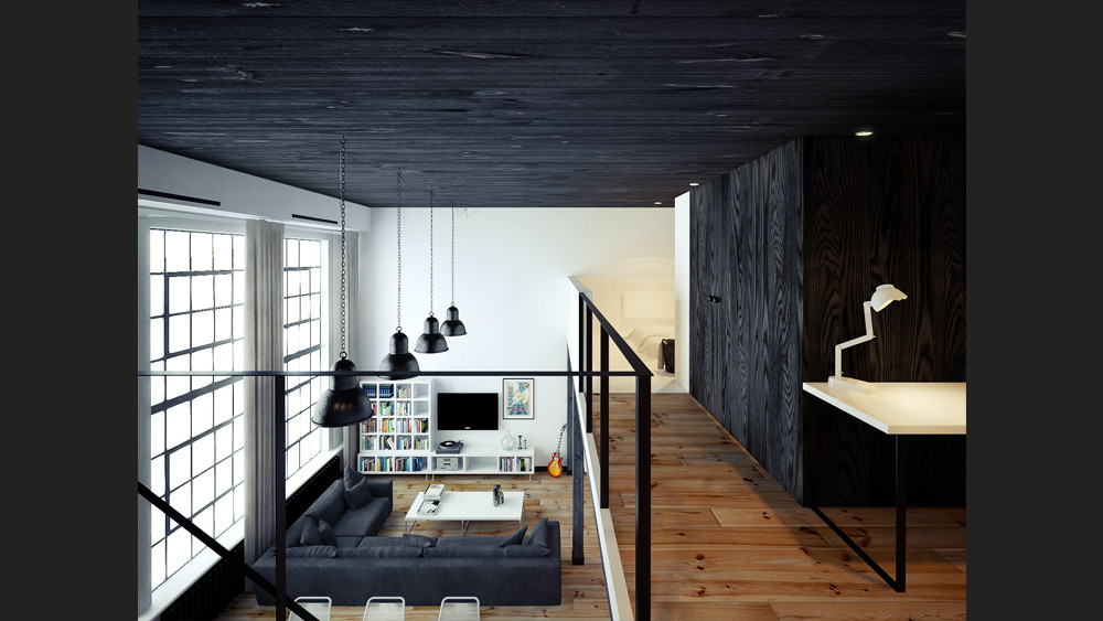 Loft design inspiration for Interior house designs black and white