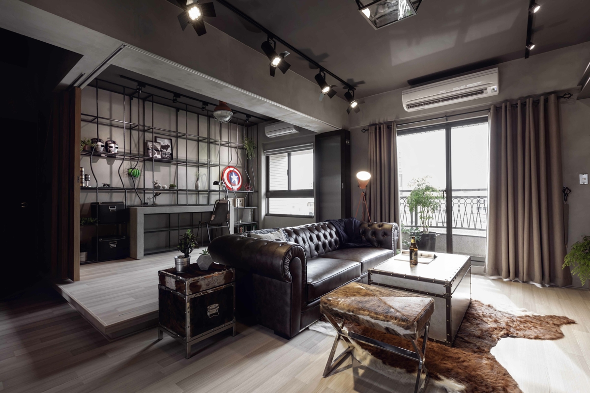 Fabulous marvel heroes themed house with cement finish and for Interieur appartement design