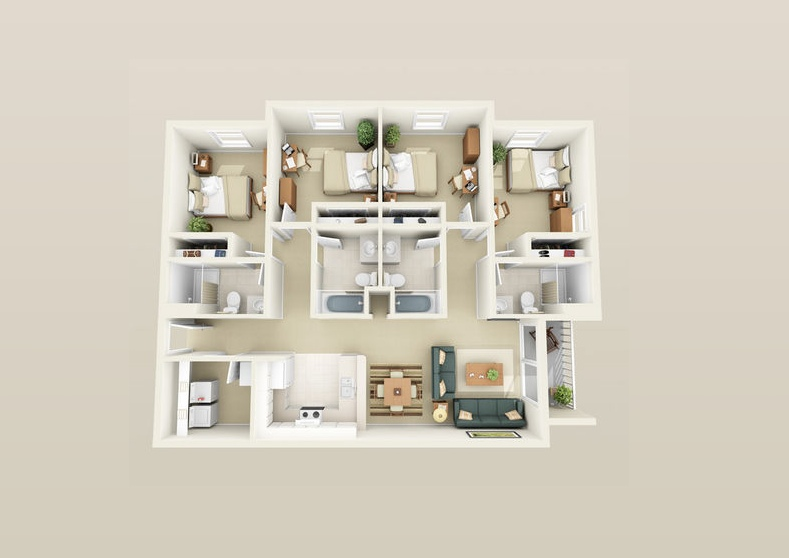 compact-home-layout | interior design ideas.