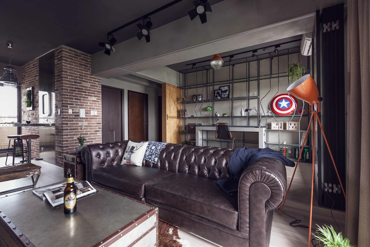Fabulous marvel heroes themed house with cement finish and for Kantoor interieur