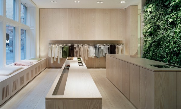 Wood flooring can also look perfect in retail spaces like this store.
