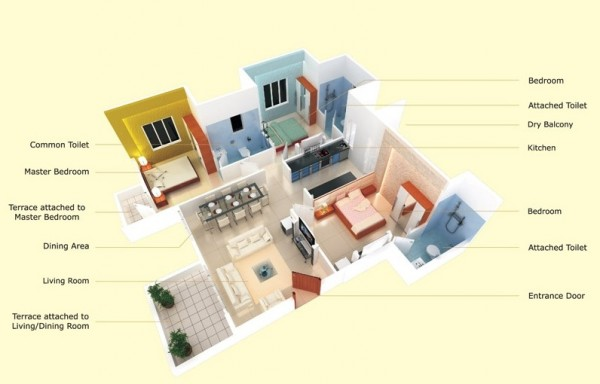 efficient 3 bedroom home plans